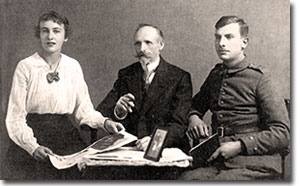 Photo of Angelika Fick with father Richard Fick Sr and Willy Fick